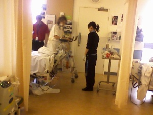 The first time I walked (post surgery)